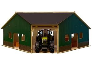 Kids Globe 610339 - Granja en esquina (escala 1:16, 40 x 100 x 38 cm, compatible con Bruder)