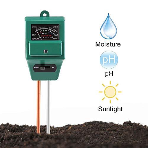 ZDYLM-Y Bodentester PH Wert DREI in Einem Gartenbau-Detektor Bodenfeuchtigkeitsmesser Beleuchtungsstärke-Tester