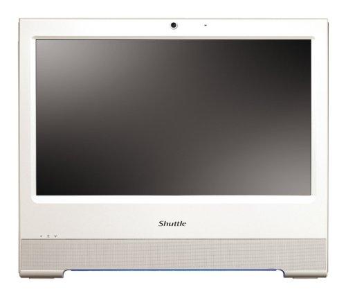 """SHUTTLE X5020TA AiO PC bianco Atom D510 2 GB RAM 250 GB SATA 6.4cm HDD 2.5"""" Windows7 Home Premium"""