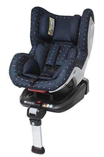 Osann 101-108-400 Reboard Kindersitz Fox Isofix- Gruppe 0+/1, 0-18 kg, 0 bis circa 4 Jahre, bellybutton, blau