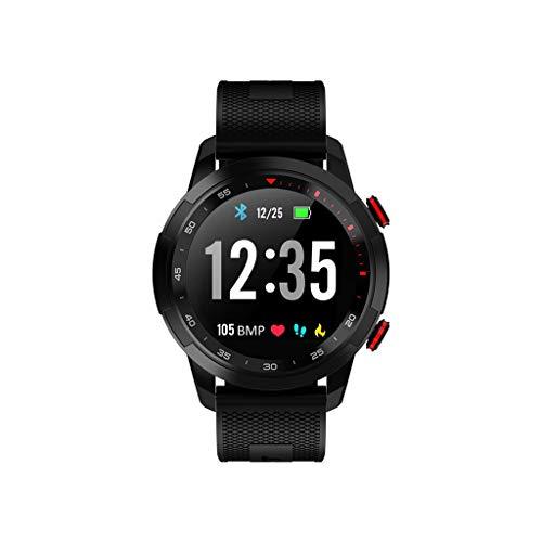 Comie V09 Blutdruck Tracker, Schlafüberwachung Tracker Herzfrequenz IP68 Wasserdicht Aktivität Tracke Herzfrequenz Monito Sport Fitness Aktivitäts Fitnessuhr für iOS für Android (Schwarz)