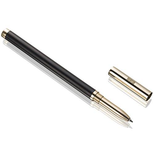 Elegante penna a sfera artigianale, di ottima qualità, con confezione regalo per uomini, Penne a sfera da ufficio, per gli affari Nero