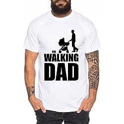 The Walking Dad Camiseta de Hombre Nerd Dead, Farbe2:Weiß;Größe2:L