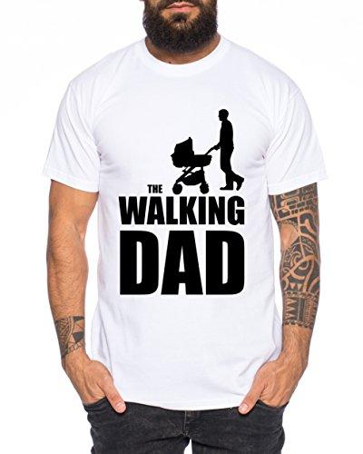 The Walking Dad Herren T-Shirt Dead Weiß