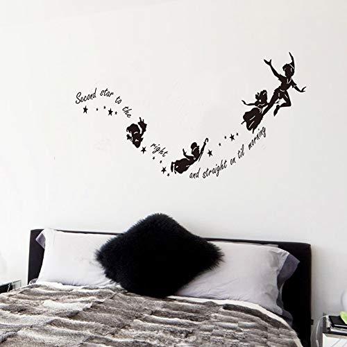 Kreative fliegende Hexen nach Hause Wandtattoo zweiten Stern auf der rechten Seite Vinyl-Wandaufkleber Halloween-Dekoration