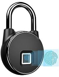 Mini Candado Huella Dactilar, Candado Maleta, Bloqueo Biométrico, Cerraduras de Huella Digital Inteligente
