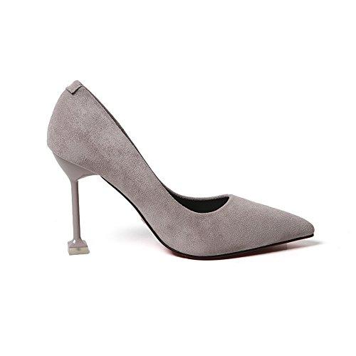 Unknown 1to9mmsg00017 - Sandales Compensées Grises Pour Femmes