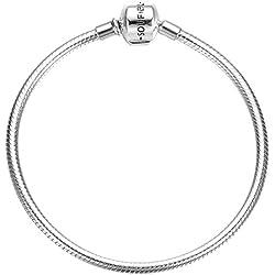 Soufeel Charms Bracelet pour Femme Chaîne Clips Serpent en Argent 925 Compatible Européen Style 16-23 CM Cadeau de Noël