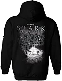 Game of Thrones Official Hoody Houses Black House Stark Zip All Sizes