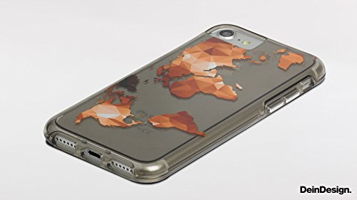 Apple iPhone 7 Bumper Hülle Bumper Case Glitzer Hülle Karo Pattern Muster Bumper Case transparent grau
