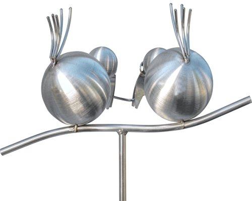edelstahl-gartenstecker-und-rankhilfe-150-cm-hoch-coco-und-zippi-als-meisenknoedelhalter-auf-dem-ast-ein-geschenk-fuer-vater-mutter-oder-freundin-die-dekoration-fuer-den-garten-ein-blumenstecker