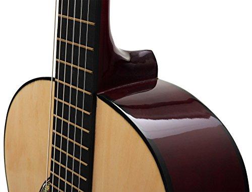 Classic Cantabile AS-851 1/2 Konzertgitarre Starter Set (Komplettes Anfänger Set mit Klassik Gitarre, Gigbag Tasche, Nylonsaiten, Lehrbuch/Schule inkl CD und DVD, 3x Plektren und Stimmpfeife) - 8
