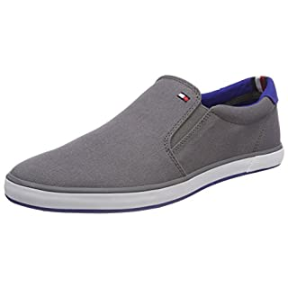 Tommy Hilfiger Herren Iconic Slip On Sneaker, Grau (Steel Grey 039), 44 EU
