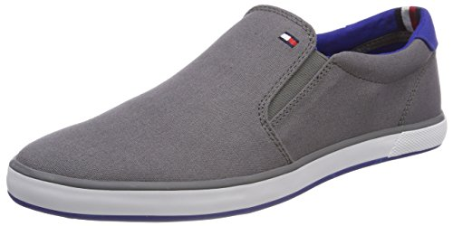Tommy Hilfiger Herren Iconic Slip ON Sneaker, Grau (Steel Grey 039), 41 EU Herren Schuhe Slip-ons