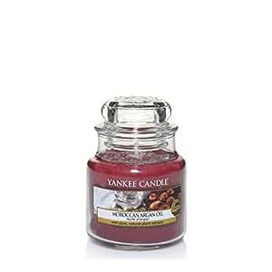 Yankee Candle 1332207E Classic Bougie Parfumée Huile d'Argan en Petite Jarre Rouge