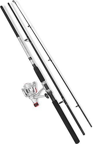 normani 3-teilige Steckrute Angelset Rute Angel Hecht Zander Spinning Fishing Equipment Angelausrüstung 270 cm, 20-70 g