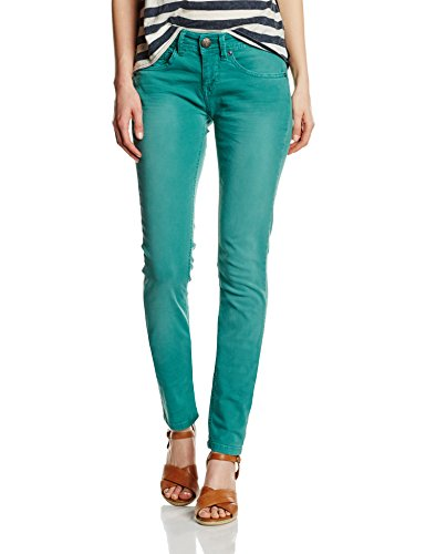 FREEMAN T.PORTER - Clara Magic Color Stretch, Pantaloni donna, teal green F452, W28 (Taglia produttore: M)