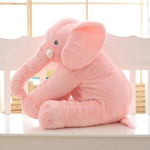 YOUHA 1 stück Mode Baby Tier Elefanten Stil Puppe Gefüllte Elefanten Plüsch Kissen Kinder Spielzeug Kinderzimmer Bett Dekoration Spielzeug 40 und LGREEN nostock rosa
