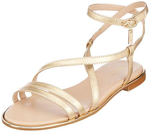 Liu Jo Shoes Susan 06-Sandal Metallic Leather Gold, Punta Aperta Donna, Oro 00529, 39 EU
