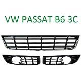 Passat B5 3bg 00 05 Gitter Grill In Stoßstange Blende Links Rechts Mitte Neu Mit Löchern Für Nebelscheinwerfer Auto