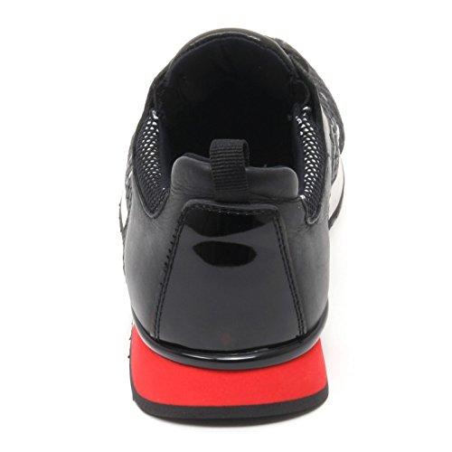 B6566 sneaker donna CRIME LONDON WITHOUT BOX nero fiori shoe woman Nero