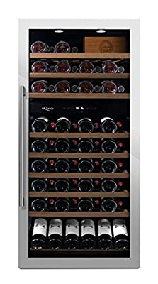 mQuvée free-standing wine cooler - WineServe 89 Stainless by Mquve