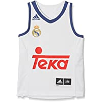 Adidas Línea Real Madrid CF Camiseta, Niños, Naranja (Balcri), 9-10 años