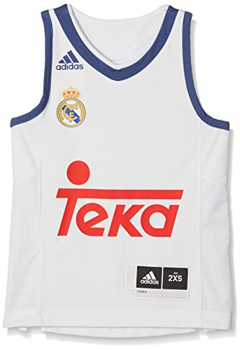 adidas Línea Real Madrid Cf Camiseta, Niños, Naranja (Balcri), 7-8 años