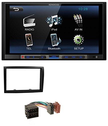 Preisvergleich Produktbild Kenwood DMX100BT MP3 USB 2DIN Bluetooth AUX Autoradio für Fiat Ducato Citroen Jumper Peugeot Boxer 06-11 ISO