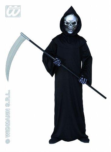 Grim Kostüme Reaper (Widmann 55508 - Kinderkostüm Dämon, Umhang und Maske, Größe)
