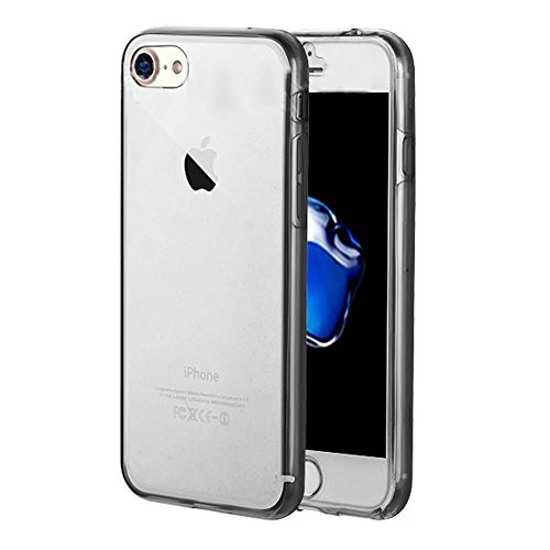 Coque Full Protecion iPhone SE / iPhone 5 5S 360° INTEGRAL Silicone Transparent Etui TPU Gel Souple Intégral Avant Arrière Protecteur Anti-Choc Housse Sunroyal® Ultra Mince Case Cover de Bumper Invisi Full Coque -01
