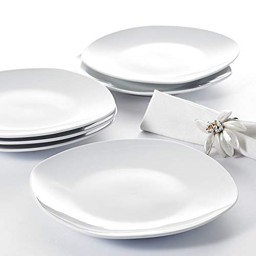 "Malacasa, Serie Elisa, 12 tlg. Set 7,5\"" Porzellan Dessertteller Kuchenteller Teller Set 19x19x2cm für 12 Personen"