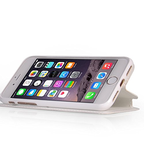 UKDANDANWEI iPhone 7 [Rr] Hülle Case, [ALL DAY] Colorful Jelly Case 360°Outdoor Touch Case Schutz Cover Hülle Handyhülle Silikon kratzfeste stoßdämpfende Case für iPhone 7 Rot Weiß