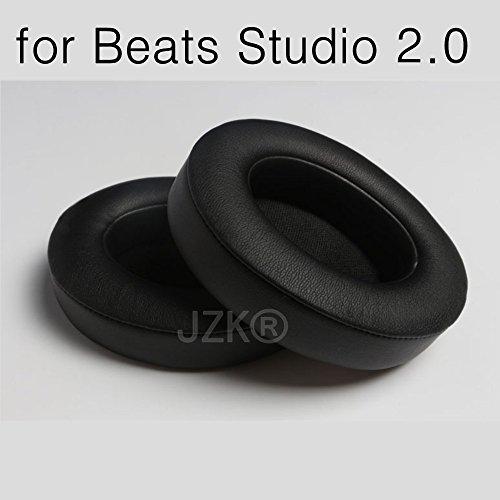 Preisvergleich Produktbild JZK® Leder Schaum Ohrpolster Ohrkissen Pads für Beats by Dr. Dre Studio 2.0 Over-Ear Kopfhörer Ersatz Ohrpolster (Beats by Dr. Dre Studio 2.0)