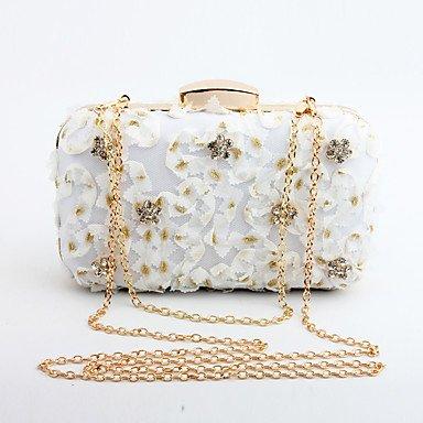 pwne L. In West Woman Fashion Luxus High-Grade Blumen Abend Tasche White
