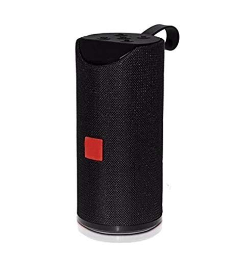 Bluetooth Speaker Portable Tg-113 Wireless Speaker | with Mic |with USB Port |Extra Bass Speaker |Assorted Color |Supported by Aux Cable, Pendrive (Black)