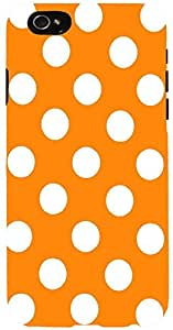 Snoogg Yellow Polka Dot Case Cover for Apple iPhone 6