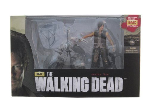 McFarlane Walking Dead TV Daryl Dixon con Chopper Figura de acción Box Set 4