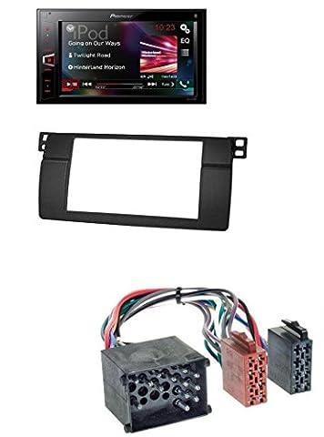 Pioneer MVH-AV290BT Bluetooth MP3 USB 2DIN AUX Autoradio für BMW 3er E46 mit großem Navi Rundpin