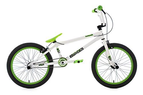 KS Cycling Bmx Freestyle Twentyinch Fahrrad, Weiß/Grün, 20 Zoll - Bmx Rad