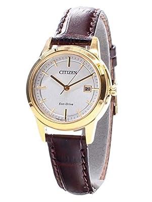 Citizen–Reloj de Pulsera analógico para Mujer Cuarzo Piel fe1083–02A de Citizen