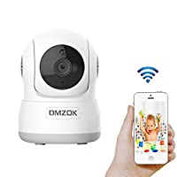 DMZOK Wireless WiFi Security Camera, Nanny Cam, Baby Camera Pet Monitor, HD 720 Home Indoor Security IP Camera with Pan Tilt Zoom, Night Vision, Two Way Audio Motion Detection