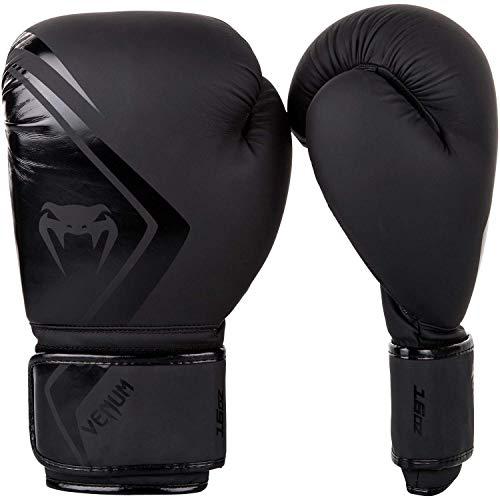 Venum MMA Anwärter Boxhandschuhe - Schwarz/Schwarz - Schwarz, 16oz -