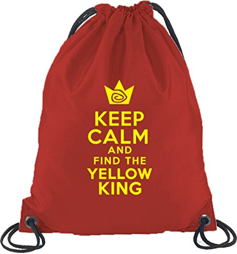 TD - Keep Calm And Find The Yellow King, Turnbeutel Rucksack Sport Beutel Rot