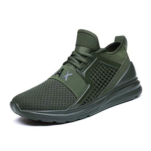 Grün Herren-basketball - (FLARUT Herren Laufschuhe Leichte Gym Sneaker Sportschuhe Turnschuhe Freizeitschuhe Atmungsaktiv Schuhe für Männer(Grün,41))