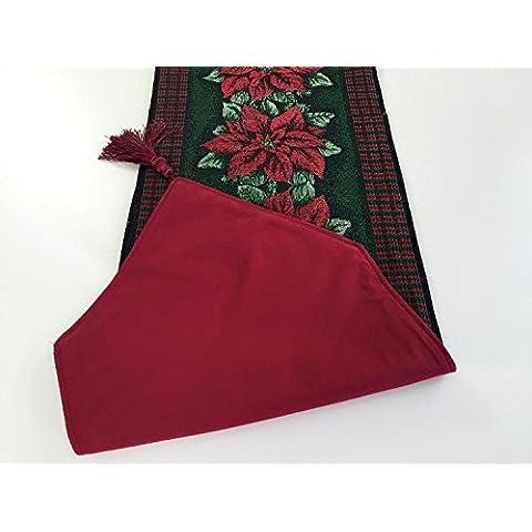 Decoración de Navidad mesa Navidad Navidad franela long double runner tapetes servilleta tabla tabla tabla runner tapetes de tela, paño doble, mesa runner 33*180cm.