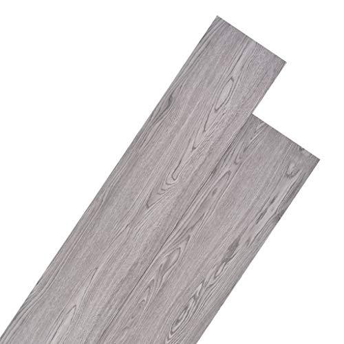 vidaXL Planche de Plancher PVC 5,26m² 2mm Gris Foncé Revêtement de Sol Parqu