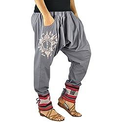 pantalones bombachos de entrepierna baja para hombres y mujeres con tatuaje espiritual Yantra como ropa hippie de virblatt - Paed Tidt Yant G