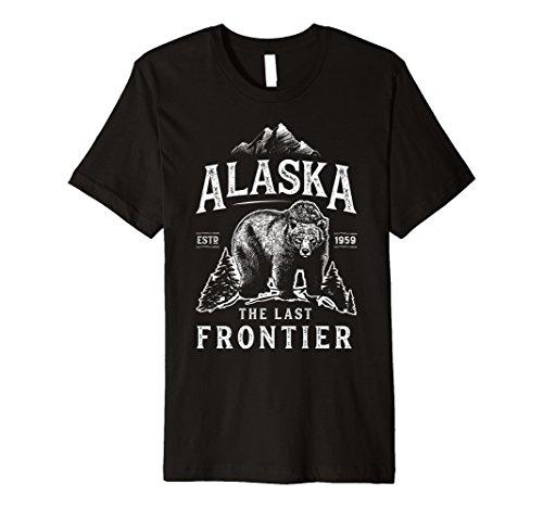 Alaska The Last Frontier Bär Home T Shirt Herren Frauen Geschenke