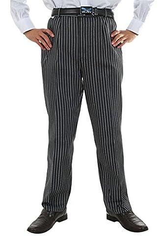 Nanxson(TM) Pantalon De Cuisine Hommes Taille Élastique Pour Hôtel Restaurant Boulangerie CFM2007 (XL, rayures)